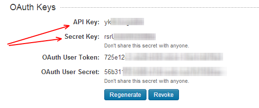 Linked In API Key and Secret Key