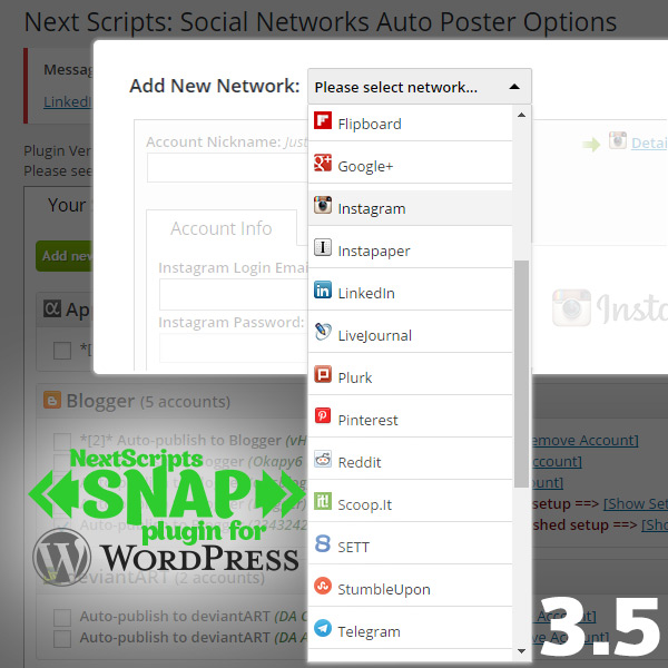 New Strategy and SNAP for WordPress Version 3.5