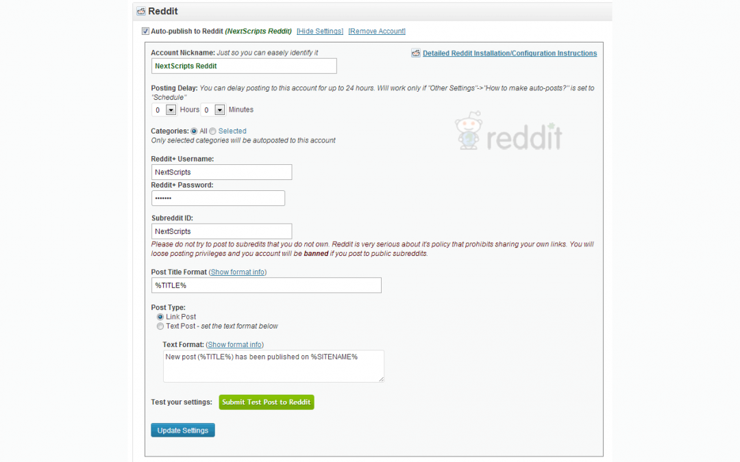 NextScripts API: New Social Network – Reddit