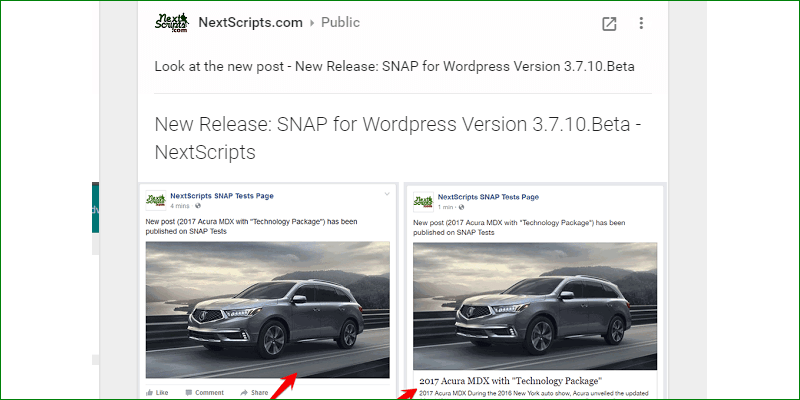 New Release: SNAP for WordPress Version 3.7.10.Beta