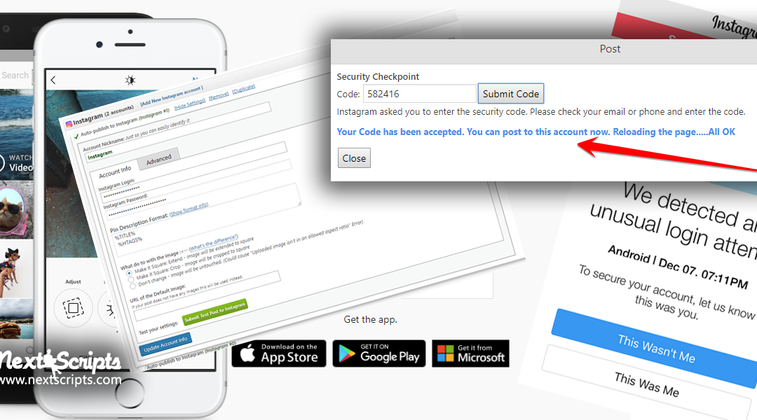 """Instagram """"checkpoint_required"""" Issue (Fixed) and SNAP Plugin for WordPress Version 4.1.1"""