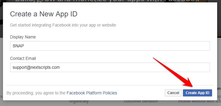 Native Facebook API Configuration instructions