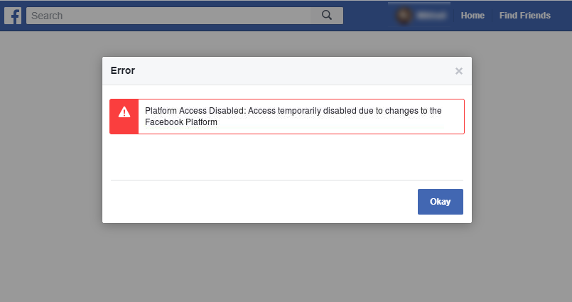 Facebook Problems and Changes