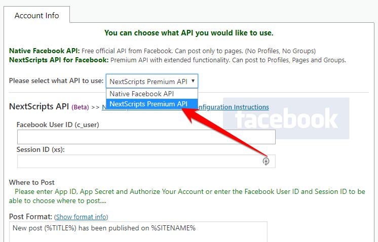 Update To Nextscripts Premium Api For Facebook Snap Plugin 423