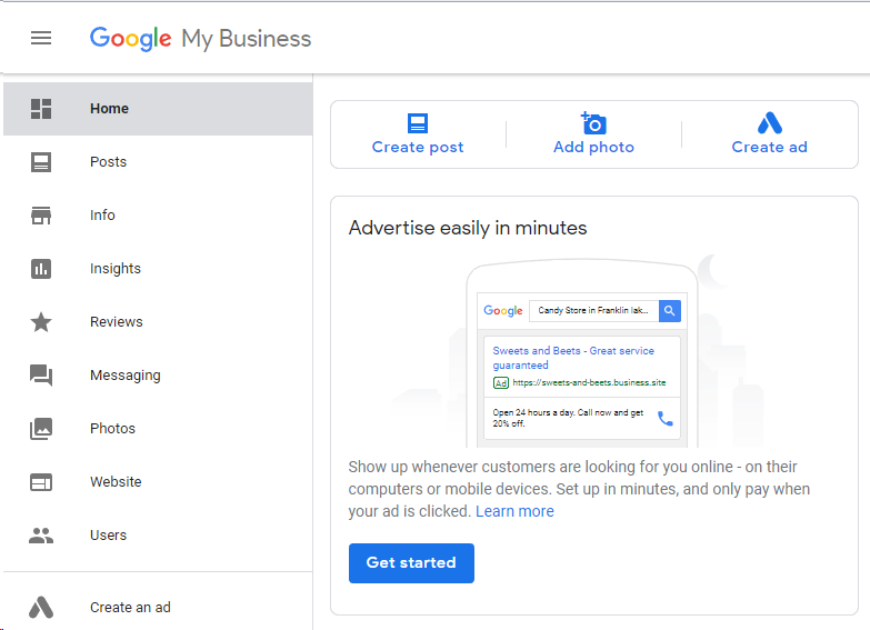 "Support for ""Google My Business"" is coming soon…"